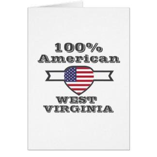 100% American, West Virginia Card