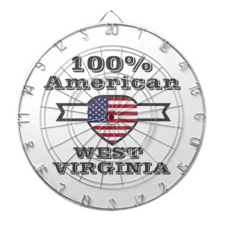 100% American, West Virginia Dartboard