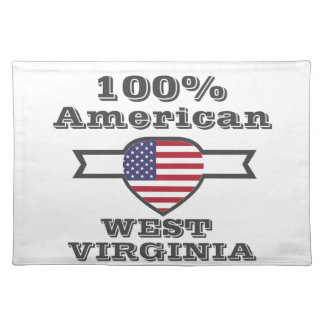 100% American, West Virginia Placemat