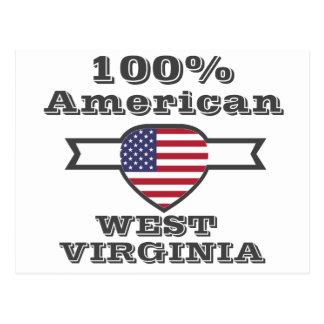100% American, West Virginia Postcard