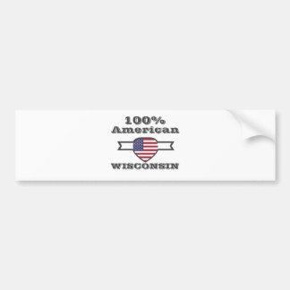 100% American, Wisconsin Bumper Sticker