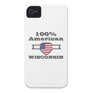 100% American, Wisconsin iPhone 4 Case