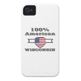 100% American, Wisconsin iPhone 4 Case-Mate Case