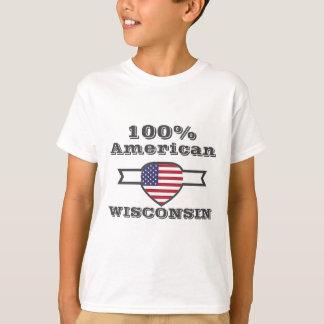 100% American, Wisconsin T-Shirt