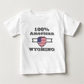 100% American, Wyoming Baby T-Shirt