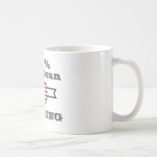 100% American, Wyoming Coffee Mug