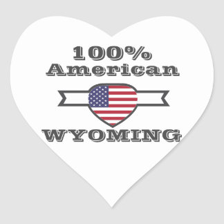 100% American, Wyoming Heart Sticker