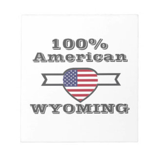 100% American, Wyoming Notepad