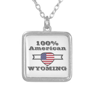 100% American, Wyoming Silver Plated Necklace