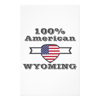 100% American, Wyoming Stationery