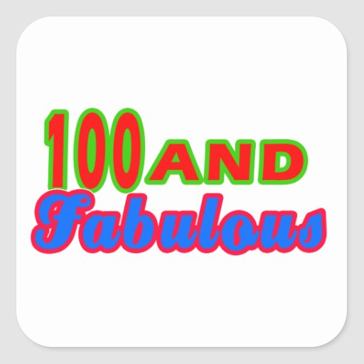 100 and Fabulous Birthday Designs Stickers