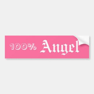 100%, Angel Car Bumper Sticker
