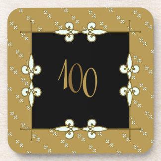 100+ Anniversary Vintage Victorian Art Deco Coaster