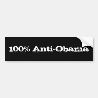 100% Anti-Obama Car Bumper Sticker