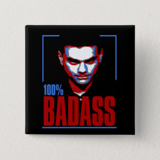 100% BadAss Shapiro 2 Inch Square Button