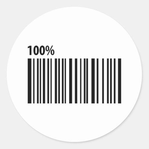 100 % bar code barcode stickers