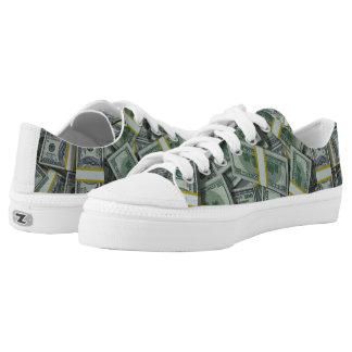 $100 Bills Zipz Low Top Money Shoes