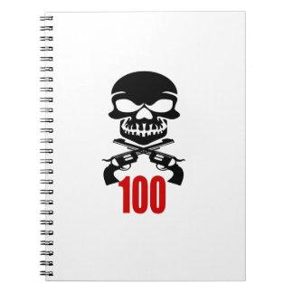 100 Birthday Designs Notebook