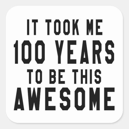 100 birthday designs square sticker