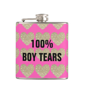 100% Boy Tears Hip Flask