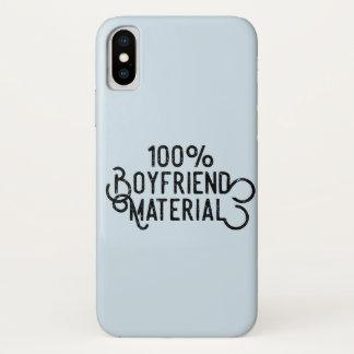 100% Boyfriend Material iPhone X Case
