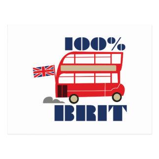 100% Brit Postcard
