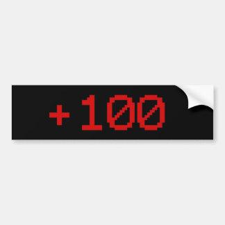+100 Bumper Sticker