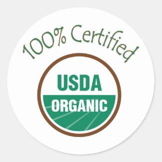 100% Certified USDA Organic Stickers