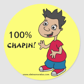 100% CHAPIN ROUND STICKERS