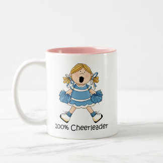100% Cheerleader - Blond Two-Tone Coffee Mug