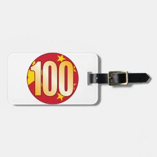 100 CHINA Gold Luggage Tag