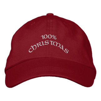 100% Christmas Embroidered Baseball Caps