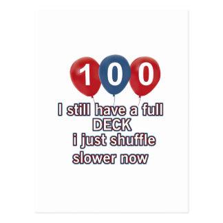 100 conceptions drôles d'anniversaire d'an carte postale
