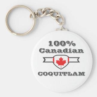 100% Coquitlam Basic Round Button Keychain