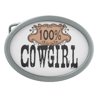 100% Cowgirl Buckle Oval Belt Buckles