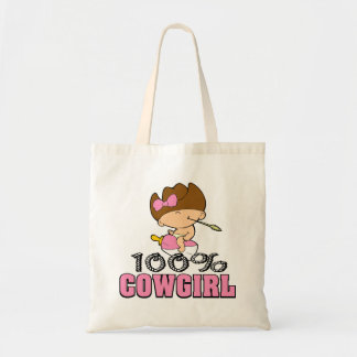 100% Cowgirl Tote Bag