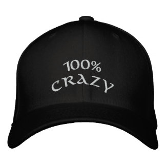 100% Crazy Embroidered Hat