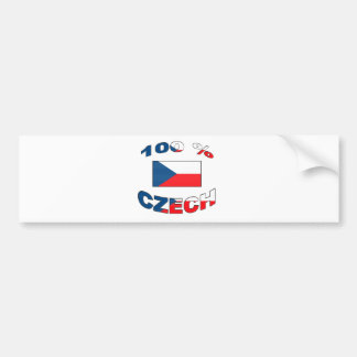 100% Czech Bumper Sticker
