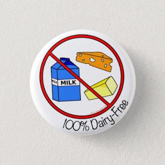 100% Dairy Free 1 Inch Round Button