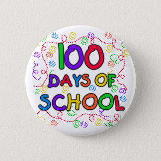 100 Days of School Confetti 2 Inch Round Button