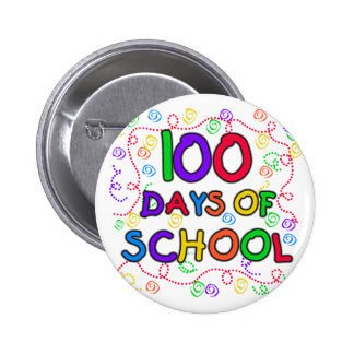 100 Days of School Confetti Buttons