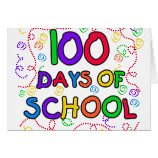 100 Days of School Confetti Greeting Card