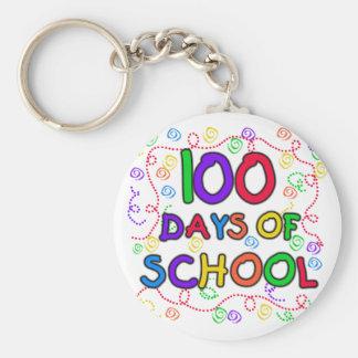 100 Days of School Confetti Key Chains