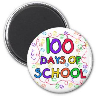 100 Days of School Confetti Refrigerator Magnet
