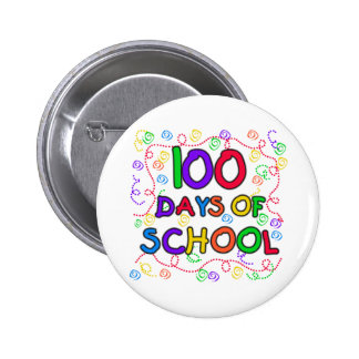 100 Days of School Confetti Tshirts and Gifts 2 Inch Round Button