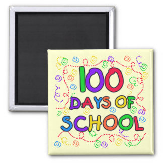 100 Days of School Confetti Tshirts and Gifts Refrigerator Magnets