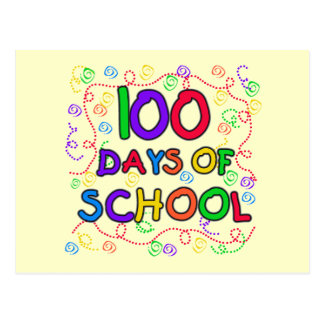 100 Days of School Confetti Tshirts and Gifts Postcard
