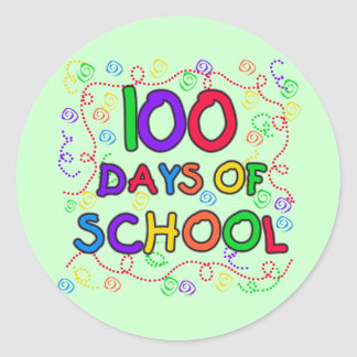 100 Days of School Confetti Tshirts and Gifts Round Sticker