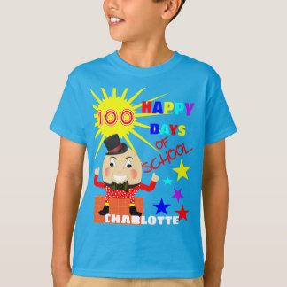 100 Days Of School Fun Humpty Dumpty Personalized T-Shirt