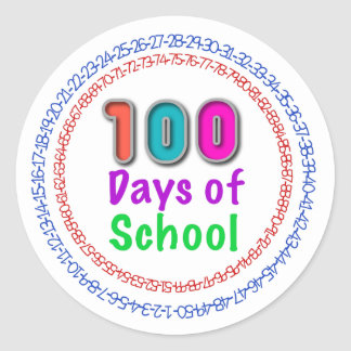 100 Days of School Stickers